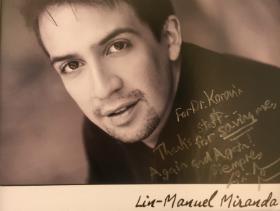 "For Doctor Korovin - Thanks for saving me again and again."" Lin-Manuel Miranda"